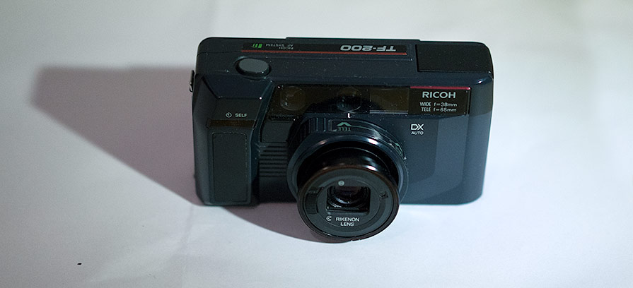 Ricoh TF-200 with 65mm tele lens enabled and extended.