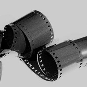 35mm film unrolled