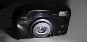 Canon Sure Shot Zoom S, black 35mm film camera