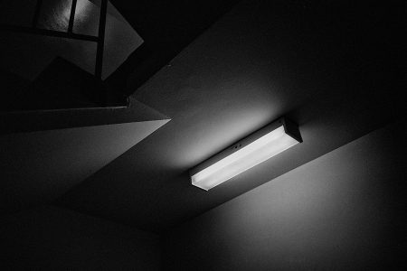 Fluorescent light black and white