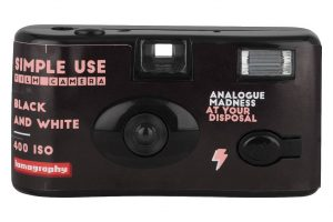 Black point and shoot film camera