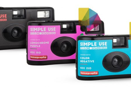 Three Lomography disposable point and shoot film cameras