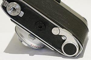Camera film rewind crank